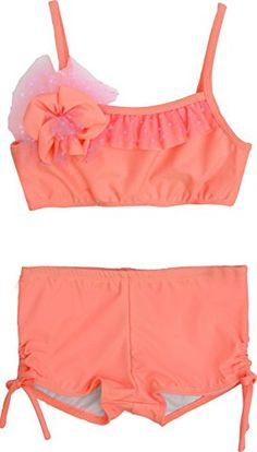 00e42ac2682f8 Isobella and Chloe Modern Girls Coral Crush Bikini Swimsuit 8 ** Read more  reviews of