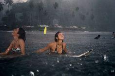 ocean dip during the rain
