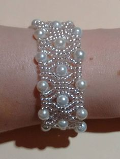 Wedding white pearl braceletbridal bracelet party bracelet