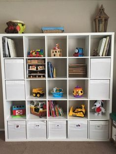 The Best Toy Storage Products from Ikea – Baby Gizmo Company – Kallax Ideas 2020 Makeup Storage Shelves, Ikea Toy Storage, Playroom Storage, Craft Storage, Ikea Playroom, Storage Place, Playroom Paint Colors, Bedroom Toys, Kid Bedrooms