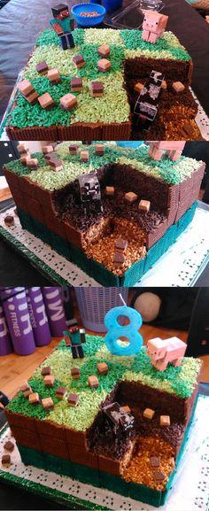 Creative Minecraft Cake