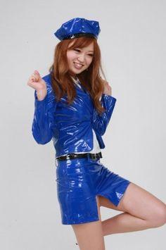 コスチューム 光る 青色 PVC ミニスカート ポリス衣装 コスプレ (PVC35) 男性Lサイズ (B00F9RAFCM) 【特価】9476円 [Cosmates]