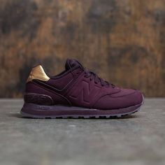 New Balance Women 574 Molten Metal WL574MTB (burgundy / supernova red)