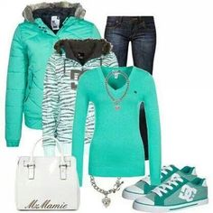 Love everything about this outfit. Cozy, Comfy, Cute!