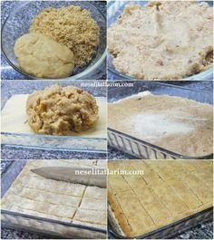 KADAYIFA BASTINeşeli Tatlarım | Neşeli Tatlarım Greek Cooking, Cooking Time, Turkish Recipes, Ethnic Recipes, Sweet Cookies, Turkish Delight, Tart, Oatmeal, Deserts