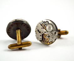 Personalised Steampunk Cufflinks Watch Movement by Chanchala, £47.00