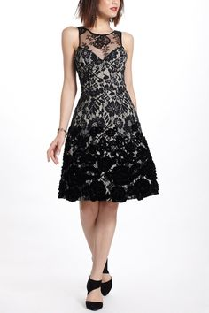 Make - embroidered tulle over another fabric.... like:  Flocked Botany Dress - Anthropologie.com