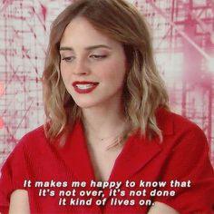 "emmaawatson: """"Emma Watson on Harry Potter "" """