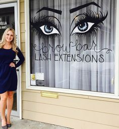 Salon set up ideas | Eyelash Extensions Business Signage