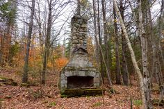 1HappyHiker: Big Deer and Little Deer Mountains (A Loop Hike in VT)  How many conversations must this fireplace have witnessed!