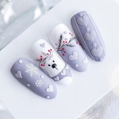 Xmas Nails, Holiday Nails, Christmas Nails, Halloween Nails, Nail Art Noel, Xmas Nail Art, New Nail Designs, Manicure E Pedicure, Christmas Nail Designs
