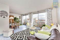 .Tapis. Vert, taupe, appartement moderne. achat vente appartement asnieres sur seine