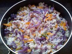 Receita de Risoto Doris Day (arroz colorido fácil). Enviada por Sueli Kato e demora apenas 30 minutos.