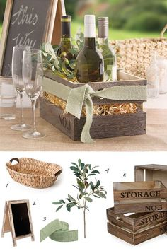 Food Gift Hamper - Hampers - Ideas of Hampers Creative Birthday Gifts, Creative Gifts, Wooden Crates Gifts, Host Gifts, Wine Baskets, Christmas Baskets, Gift Hampers, Inexpensive Gift, Wine Gifts