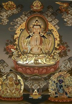 Avalokiteshvara, the Sanskrit word for Kuan Yin. She hears the cries of suffering in the world and responds with