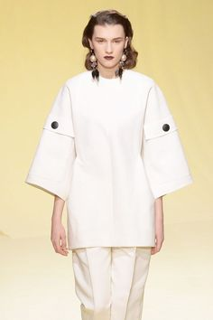Beyond Bell Sleeves: 5 New Shapes To Know #refinery29  http://www.refinery29.com/2016/02/104186/marni-sleeves-mfw-2016#slide-3  Culotte SleeveThree-quarter length, tube-shaped, and just wide enough, these sleeves are basically the culottes of your arms. We love how Marni styled it up as a two-piece suit, and we think it'd look just as chic as a minidress (wear it in the winter with a turtleneck underneath)....