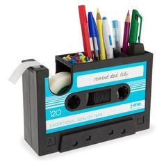 Pot à Crayons et Dérouleur Ruban Adhésif Cassette