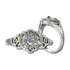 3 moon pentagram witch jewelrypagan jewelrywiccan weddingmoon ringssterling
