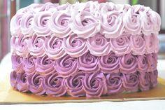 Purple Rossete Cake