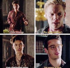 """""""1.06 {Of Men and Angels} Holy moly 2 more minutes!  This was so funny lmao  I love Magnus  #shadowhunters #shadowhunterscast #shadowhunterstv…"""""""