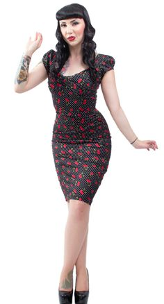 Stop Staring! Cherry Drop Dress | Blame Betty