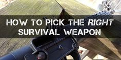 Having a survival weapon is an absolute necessity for camping, hiking, bushcraft, or if you're just lost in the wilderness.