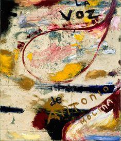 Julian Schnabel - La Voz de Antonio Molina (Mineral Violet Painting)