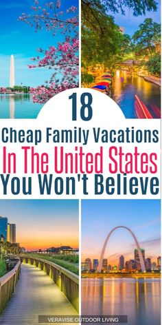 Don't break the bank on your next family vacation. Check out our list of cheapest places to travel in the US with the kids! Don't break the bank on your next family vacation. Check out our list of cheapest places to travel in the US with the kids! Cheap Family Vacations, Vacations In The Us, Family Vacation Destinations, Top Travel Destinations, Vacation Trips, Budget Travel, Travel Ideas, Cruise Vacation, Disney Cruise