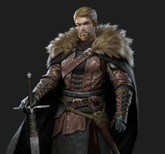 ArtStation - 个人作品, 姚 远 male human fighter with broadsword and leather armour DnD / Pathfinder character inspiration Fantasy Male, Fantasy Armor, High Fantasy, Medieval Fantasy, Fantasy Character Design, Character Creation, Character Concept, Character Art, Inspiration Drawing
