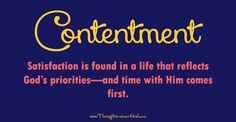 contentment and satisfaction