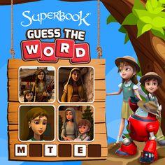 #GuessTheWord #BibleGames #SuperbookGames Guess The Word, Greg Olsen, Bible Games, Kraken, Have Some Fun, Spy, Robots, Goat, Lightning