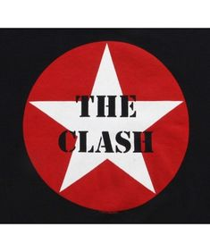 The Clash - Star Logo T-Shirt,Large Large Pre-shrunk Standard sizes Machine washable The Clash Lyrics, London Calling The Clash, The Clash Band, Combat Rock, Rock The Casbah, The Future Is Unwritten, Rock Band Logos, Star Logo, Band Posters