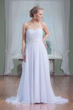 Mecco Wedding dress MW10075 Strapless Dress Formal, Formal Dresses, Wedding Dresses, One Shoulder Wedding Dress, Fashion, Tea Length Formal Dresses, Bride Dresses, Moda, Formal Gowns