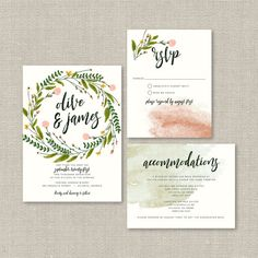 Rustic Wedding Invitation Suite DEPOSIT DIY di SplashOfSilver
