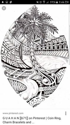 Nice combo of traditional Chamorro images, crafts, symbols, designs.