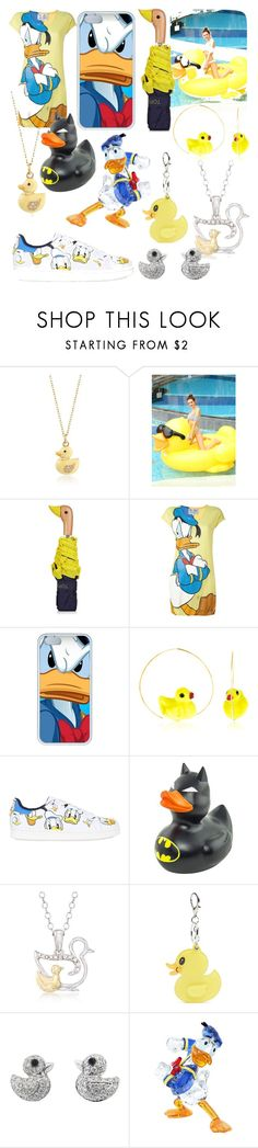 """""""Duckies ft. Donald Duck"""" by peridot11871 ❤ liked on Polyvore featuring Ross-Simons, Topshop, JC de Castelbajac, Nach, MOA Master of Arts, Forever 21, Pippo Perez and Swarovski"""