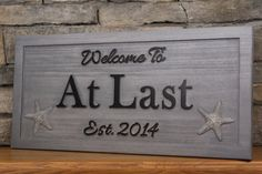 Beach House Sign Family Name Sign Carved by SmokyMountainSigns, $74.99