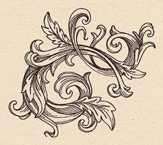 Baroque Flourish design (UT7905) from UrbanThreads.com