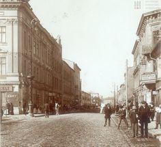 Ul. Kalwaryjska w Podgórzu w początkach XX w., widok od Rynku.