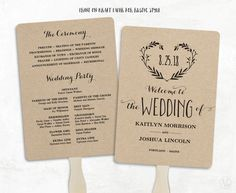 FREE Printable Wedding Program Pinterest Free Printable Wedding - Blank wedding program template