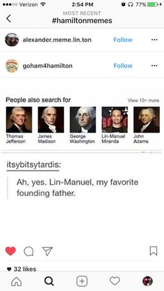 Well he truly is my favorite founding father