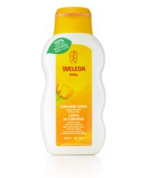 Calendula Natural Baby Lotion with a light base of sweet almond oil for easy absorption and beeswax to smooth and protect skin and protects.