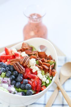 Perfect recipe for summer! Summer Strawberry Poppy Seed Salad