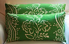 Ivory French Linen Floral Decorative Throw Pillow