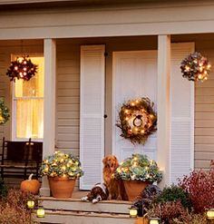 fall front entry ~ like elements of this