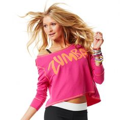 Authentic New Zumba Astro-Not Boatneck Tee Top ~BERRY PINK~ NWT Ropa  Deportiva 726eda099a3e2