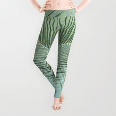 Flash Flood Warnings Leggings by Vikki Salmela, new due to all the unusual #rain, my #palm is in a storm! #Green fun for #fashion #apparel #pant #leggings for #activewear #leisurewear or a trendy casual event! Available in coordinating products as well as #home #decor and #tech #accessories. #Tropical #rain #forest adventures have arrived.