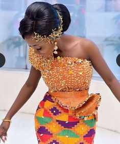 African Prom Dresses, African Wedding Dress, Latest African Fashion Dresses, African Print Fashion, African Dress, African Traditional Wedding Dress, Traditional Weddings, Kente Dress, Kente Styles