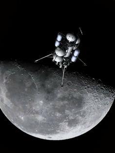 Von Braun/Collier's moon cargo lander