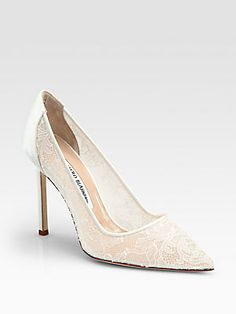Manolo Blahnik BB Lace & Satin Pumps    (these are kinda tacky but kinda dope in a Madonna sort of way)